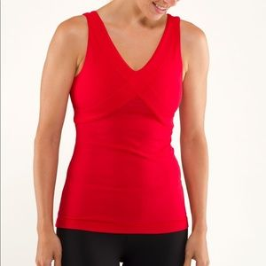 lululemon Currant Red Wrap Tank Top